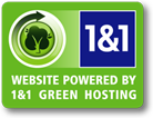 1 and 1 green hosting logo